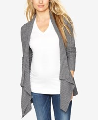 Autumn Cashmere Maternity Open Front Cardigan Flannel
