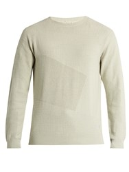 Adidas Originals By Wings Horns Patch Cotton Blend Knit Sweater Cream