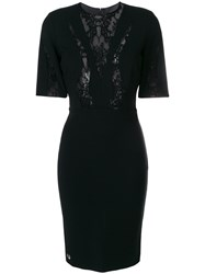 Philipp Plein Lace Panel Dress Cotton Nylon Polyamide Viscose Black