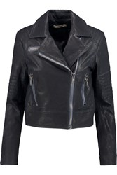 J Brand Chiaki Leather Jacket Black