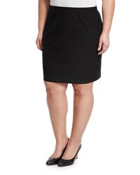 Eileen Fisher Washable Crepe Pencil Skirt Black