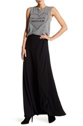 Lovers Friends Xoxo Split Leg Maxi Skirt Black