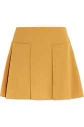 See By Chloe Pleated Cloque Mini Skirt Marigold