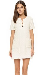 J.O.A. Lace Up Mini Dress White