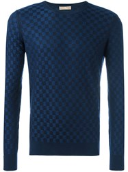 Cruciani Checked Jumper Blue
