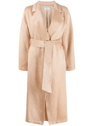 Forte Forte Belted Wrap Coat Neutrals