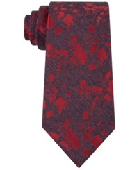 Calvin Klein Men's Red Hot Floral Tie Charcoal