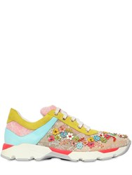Rene Caovilla 20Mm Embellished Lace Sneakers
