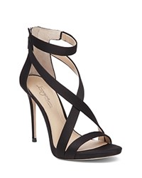 Imagine Vince Camuto Devin Satin High Heel Ankle Strap Sandals Black