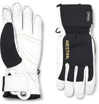 Hestra Army Two Tone Leather And Gore Tex Ski Gloves White