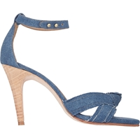 Ulla Johnson Knotted Ankle Strap Sandals Blue