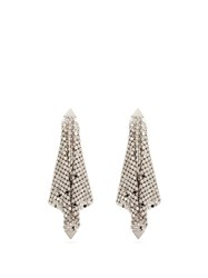 Paco Rabanne Chainmail Mesh Earrings Silver