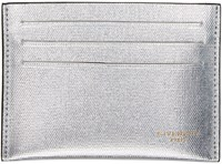 Givenchy Silver Leather Card Holder