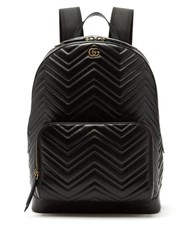 Gucci Marmont Leather Backpack Black