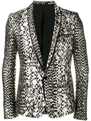 Haider Ackermann Animal Pattern Blazer Black