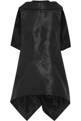 Rick Owens Sphinx Asymmetric Cape Back Faille Top Black