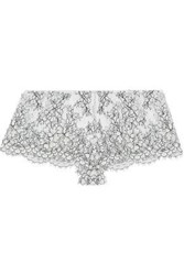 I.D. Sarrieri Corded Lace Mid Rise Briefs Ivory