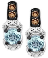 Le Vian Aquamarine 7 8 Ct. T.W. And Diamond 1 4 Ct. T.W. Earrings In 14K White Gold