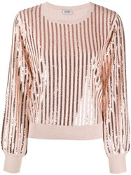 Liu Jo Sequin Embroidered Crew Neck Jumper 60