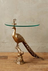 Anthropologie Pavo Side Table Gold
