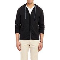 James Perse Men's Zip Up Hoodie Black Blue Black Blue