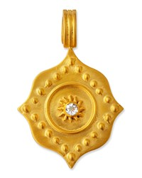 Dina Mackney White Topaz Lotus Pendant Gold