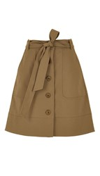 Tibi City Stretch Cargo Skirt