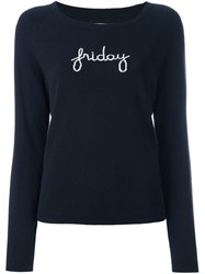 Chinti And Parker 'Friday' Raglan Knit Sweater Blue
