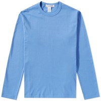 Comme Des Garcons Shirt Long Sleeve Rear Print Logo Tee Blue