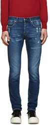 Mcq By Alexander Mcqueen Blue Skinny Jeans