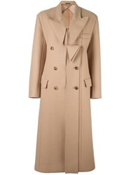 Maison Martin Margiela Felt Maxi Coat Brown