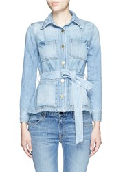 Frame Denim 'Le Patch Pocket' Denim Jacket Blue
