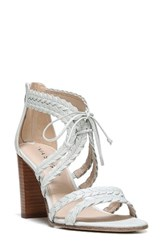 Via Spiga Women's Gardenia Lace Up Sandal White Leather