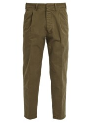 The Gigi Santiago Cotton Trousers Green