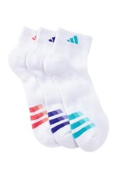 Adidas Climalite Cushioned Low Cut Socks Pack Of 3 Women White