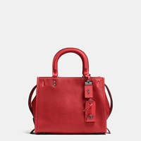 Coach Rogue Bag 25 In Glovetanned Pebble Leather Black Red