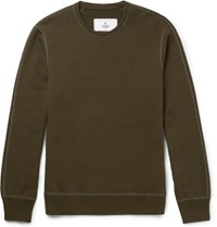 Reigning Champ Loopback Cotton Jersey Sweatshirt Green