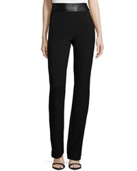 Halston High Waist Slim Boot Cut Pants Black