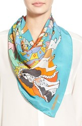 Women's Karen Mabon 'Fancy Dress Dogs' Silk Scarf