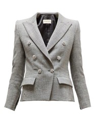 Alexandre Vauthier Double Breasted Crystal Button Jacket Grey Multi