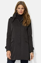 Women's Lauren Ralph Lauren Rain Jacket With Detachable Hood And Liner Nordstrom Exclusive