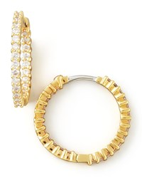 22Mm Yellow Gold Diamond Hoop Earrings 1Ct Roberto Coin Red