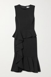 Michael Kors Collection Ruffled Stretch Cady Dress Black