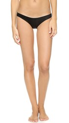 Only Hearts Club Silk Charmeuse Bikini Briefs Black