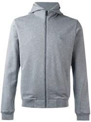 Z Zegna Classic Long Sleeve Hoodie Grey