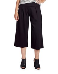 Jag Roxie Pleated Ponte Gaucho Pants Black