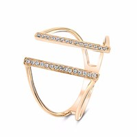 Cosanuova Bridge Diamond Ring 18K Rose Gold