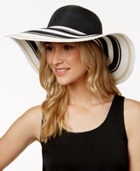 Inc International Concepts Striped Brim Floppy Hat Only At Macy's Black White