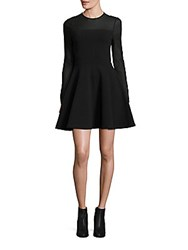 Opening Ceremony Ottoman Fit And Flare Dress Black