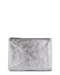 Jaeger Large Leather Cooper Clutch Metallic